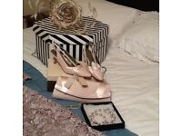 Jaques Vert Mother Bride/Groom complete wedding outfit size 18 sandals 5