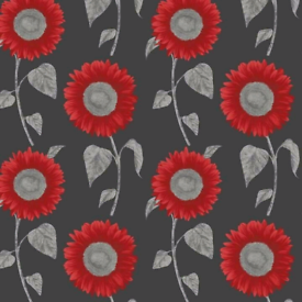 Red sunflower wall papers x 2