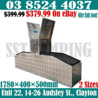 2.5mm Thick Aluminium Gullwing Toolbox 1780x400x500 Top Opening