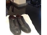 Genuine Womens Designer Black Leather Todd Shoe size 37- 1/2