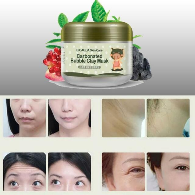 Carbonated Bubble Clay Mask Whitening Oxygen Mud Moisturizing Deep Cleanse 22