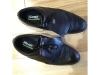 Gents Black Leather Golf Shoes size 9
