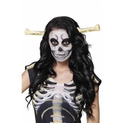 Knochen durch Kopf Skelett Höhlenfrau Halloween Kostüm