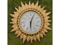 London clock Co Sunburst wall clock