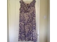 Jaques Vert tape and lavender empire line floaty dress size 16