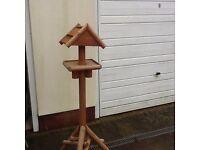 Solid Rustic Bird Table