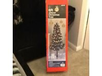 6ft black deluxe Xmas tree £10 2 for sale