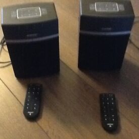 2 Bose sound touch speakers with remotes and all cables....hardly used