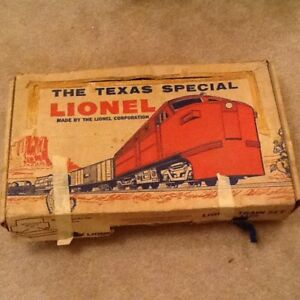 Post war Lionel train set-The Texas Special, with box