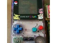 Gameboy colorn with pokemon blue game