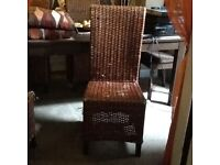 Wicker dining chairs X 4