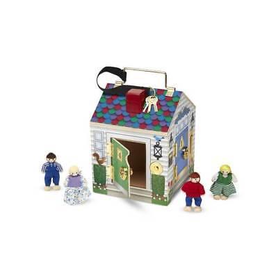 Melissa & Doug Holz Puppen Haus mit Schlösser und Türklingeln Spielzeug ()