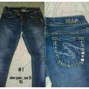 Silver jeans!! 10$!!