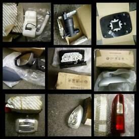 Job lot car and van parts mirrors lights filters and more