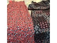 Collection of long dresses