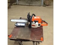 Stihl 023c Chainsaw with 16 inch cutting Bar and New chain