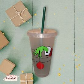 Grinch theme cup