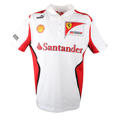 Ferrari Scuderia Team Polo Shirt Mens XS M L XL XXL        RRP £73
