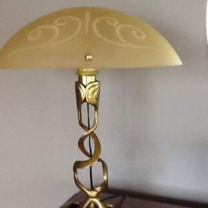 SOLID BRASS ANTIQUE LAMP FROM VENICE