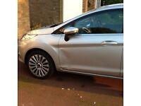 Ford Fiesta titanium car silver