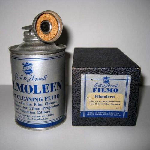 Bell & Howell ® Filmo Filmoleen Film Cleaning Fluid And Gasket - Empty Can