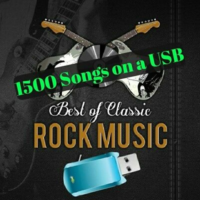 Greatest Hits CLASSIC ROCK Collection 16gb USB with 1500 MP3 Songs of 80 Artists