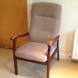 Parker Knoll high backed armchair
