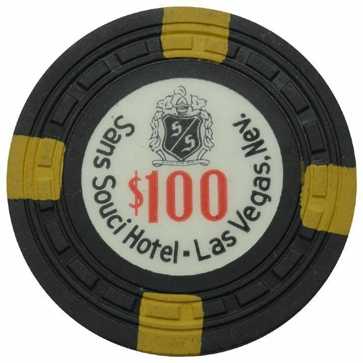 Sans Souci Casino Las Vegas NV $100 Chip 1957