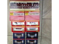 Assorted oo gauge wagon and coaches (pine express coach set)