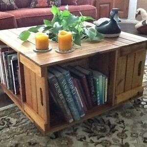 Apple box coffee table