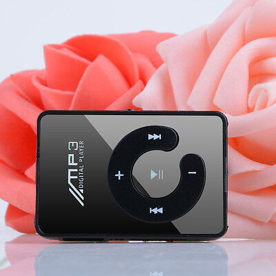 Black Practical Mini USB Clip MP3 Player 32B Micro SD Card LCD Music Media UK