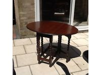 Ercol drop leaf table. . approx. 102cx78cx72c high