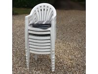 8 garden chairs for sale