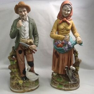 Ceramic figurines Old Couple gardeners/farmers Cambridge Kitchener Area image 1