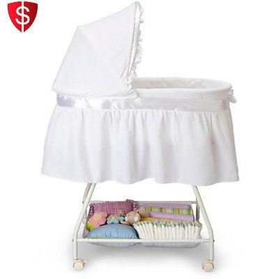 Baby Bassinet Portable Nursery Cradle Infant Basket Crib Travel Newborn Bed