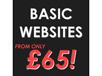 Basic Website Design | From just £65!* |