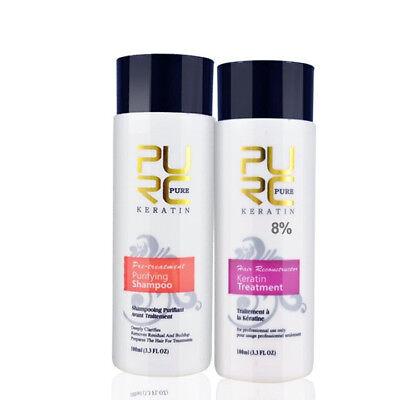 Keratin Hair Care Treatment 100ml 8% Purifying Shampoo Brazilian Straightening