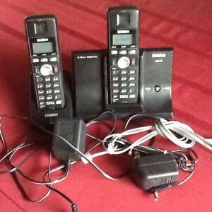 Phones,  2 Handset cordless phones.