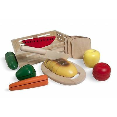 Melissa & Doug CUTTING Food Wooden Play FOOD Kitchen Role play Educational Toy