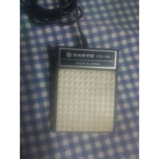 SANYO TAPE RECORDER FOOT SWITCH MODEL FS-70  Doonside Blacktown Area Preview