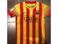 Barcelona football top - Size S , 8-10 yrs