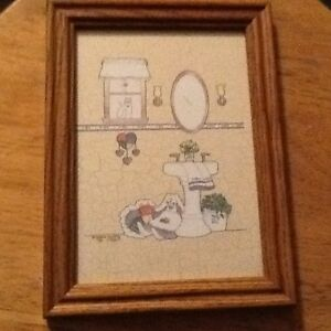 3 cute framed pictures
