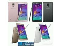 Brand New Orignal Samsung Galaxy Note 4 Uk Stock SM-N910F-32GB-White,Black(Unlocked)With Warranty