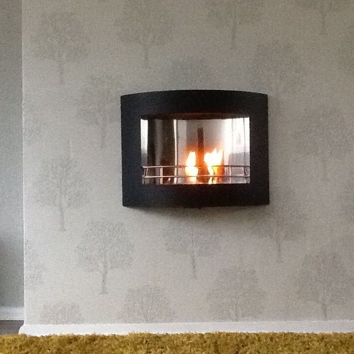 Wall Hung Bio Ethanol Fire Indoor Or Outdoor In