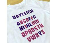 £9.99 FREE P&P Children's personalised t-shirts