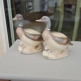 beautiful pair of geese ornaments