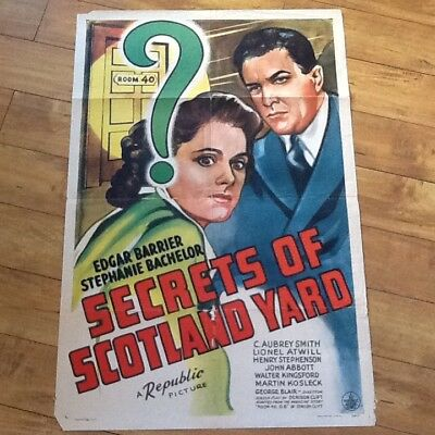 Secrets of Scotland Yard with Edgar Barrier Stephanie Bachelor 1944 Republic