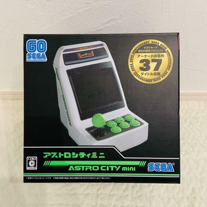 SEGA Game Console ASTRO CITY mini 1/6 1990 s games 36 titles W/ Box Japan New