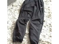 Men's Nike black medium tracksuit trousers, very good condition