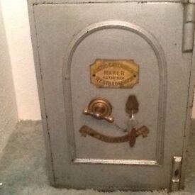 Antique Jacob Cartwright iron safe